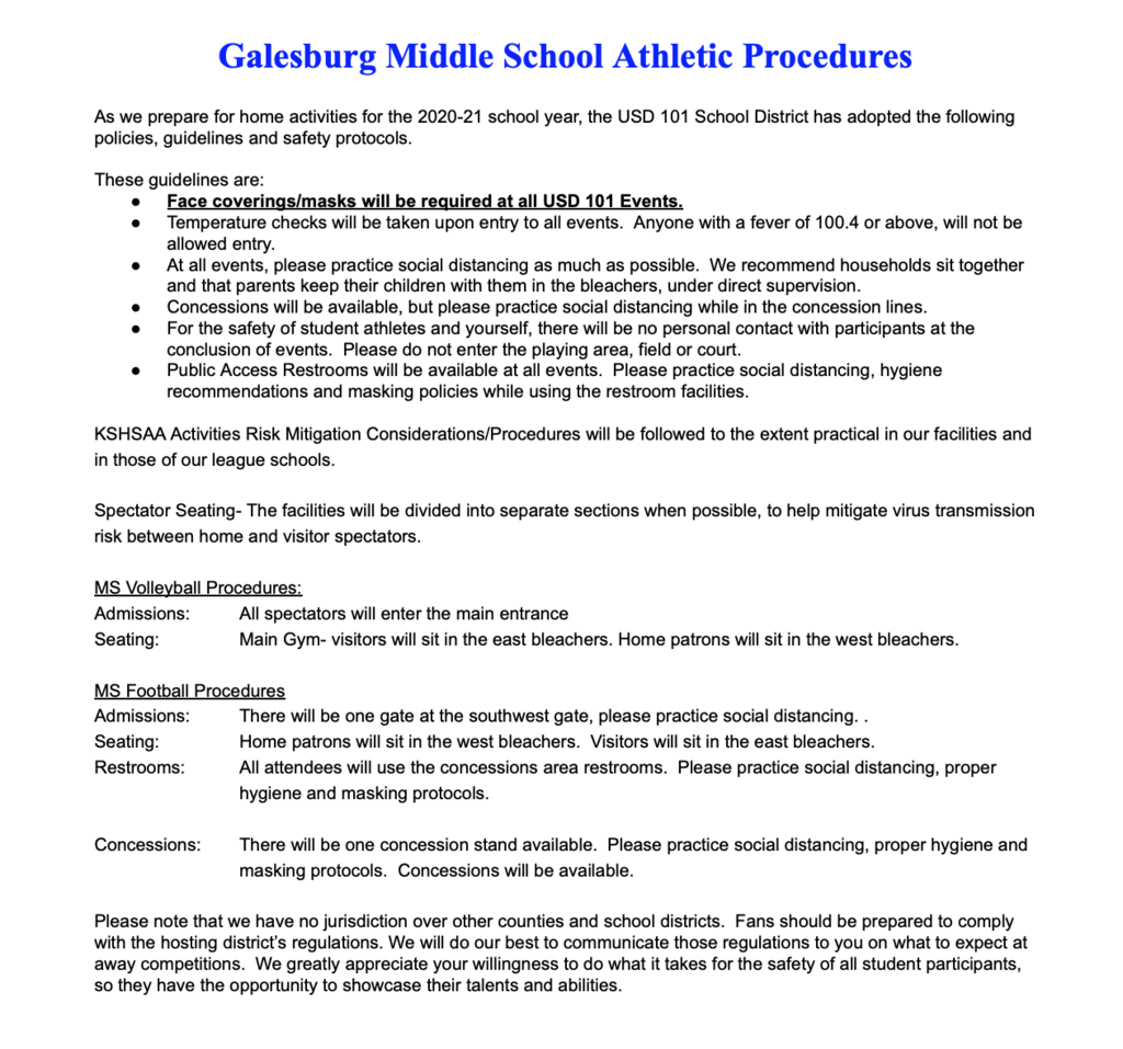 Galesburg MS Info