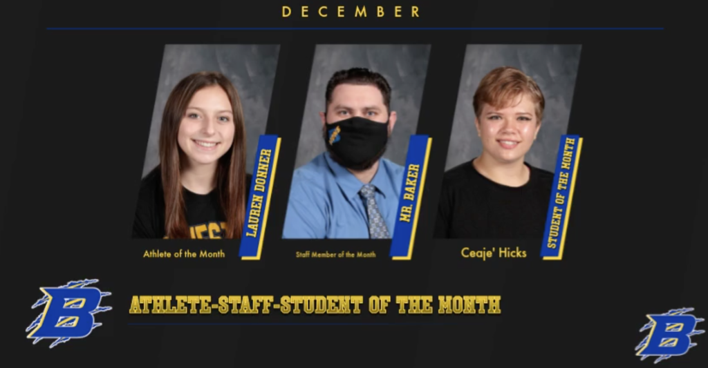 Staff-Student-Athlete of the Month