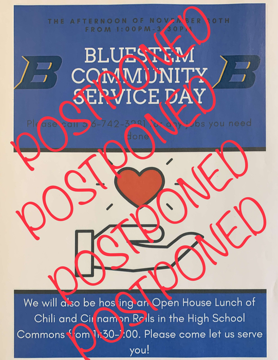 Community service day postponed!