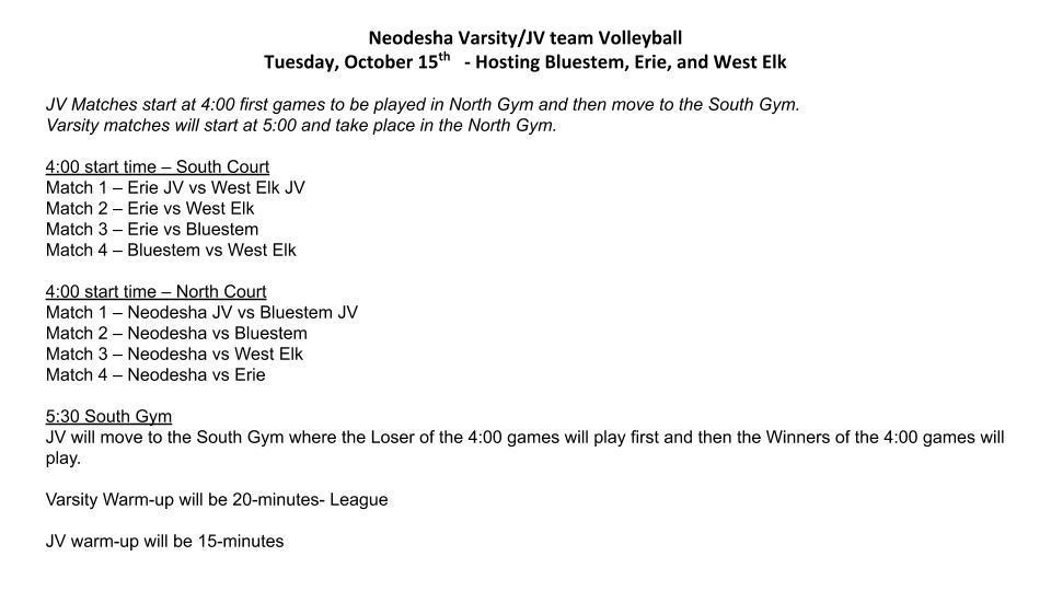 Volleyball Quad @ Neodesha Info