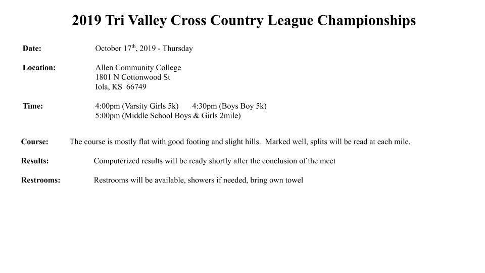 League Meet Info