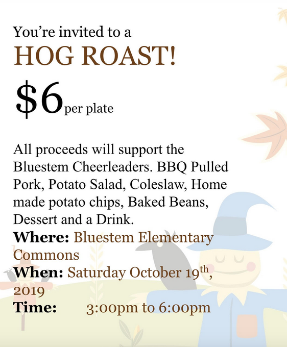 BJSHS Cheer Hog Roast Fundraiser