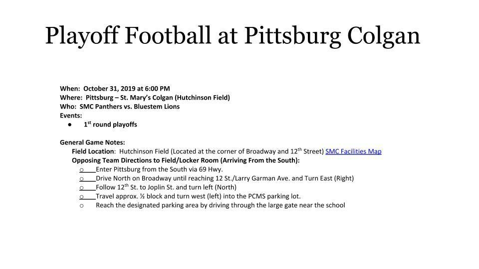 Playoff Football Info