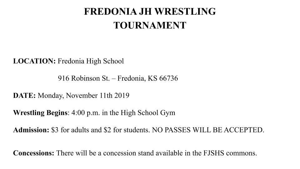 MS Wrestling Tourney- Fredonia