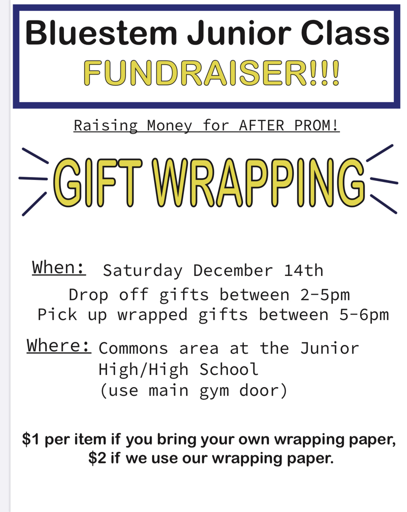 JR gift wrapping fundraiser