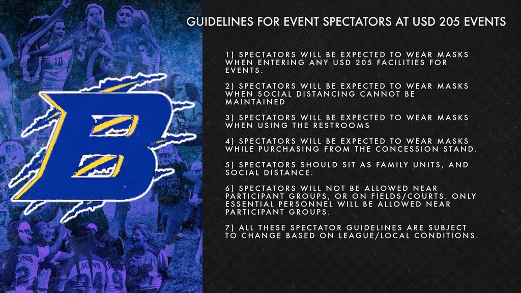 USD 205 Event Spectator Guidelines