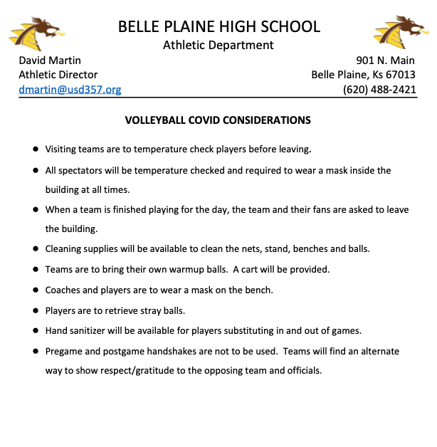 Belle Plaine Volleyball Info