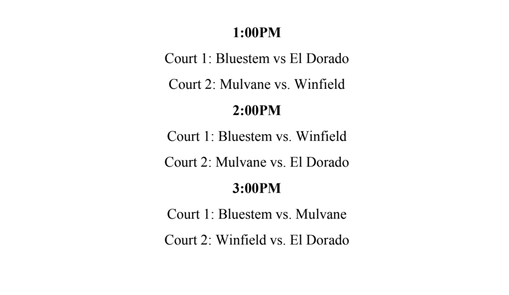 DHS TOURNAMENT  SCHEDULE